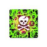 Deathrock Skull & Crossbones Magnet (Square)