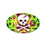 Deathrock Skull & Crossbones Sticker Oval (100 pack)