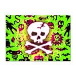 Deathrock Skull & Crossbones Sticker A4 (100 pack)