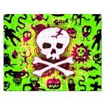 Deathrock Skull & Crossbones Jigsaw Puzzle (Rectangular)