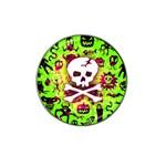 Deathrock Skull & Crossbones Hat Clip Ball Marker