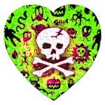 Deathrock Skull & Crossbones Jigsaw Puzzle (Heart)