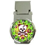 Deathrock Skull & Crossbones Money Clip Watch