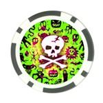 Deathrock Skull & Crossbones Poker Chip Card Guard