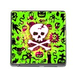 Deathrock Skull & Crossbones Memory Card Reader with Storage (Square)