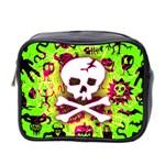 Deathrock Skull & Crossbones Mini Toiletries Bag (Two Sides)