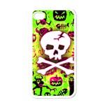 Deathrock Skull & Crossbones Apple iPhone 4 Case (White)