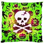 Deathrock Skull & Crossbones Large Cushion Case (One Side)
