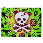 Deathrock Skull & Crossbones Cosmetic Bag (XXL)