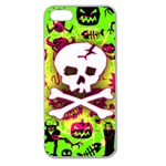 Deathrock Skull & Crossbones Apple Seamless iPhone 5 Case (Clear)