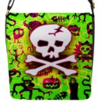 Deathrock Skull & Crossbones Removable Flap Cover (Small)
