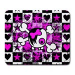 Emo Scene Girl Skull Large Mousepad