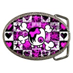 Emo Scene Girl Skull Belt Buckle