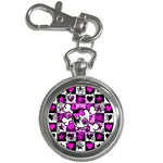 Emo Scene Girl Skull Key Chain Watch