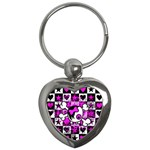 Emo Scene Girl Skull Key Chain (Heart)