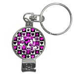 Emo Scene Girl Skull Nail Clippers Key Chain