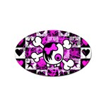 Emo Scene Girl Skull Sticker (Oval)