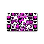 Emo Scene Girl Skull Magnet (Name Card)