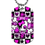Emo Scene Girl Skull Dog Tag (One Side)