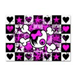 Emo Scene Girl Skull Sticker A4 (100 pack)