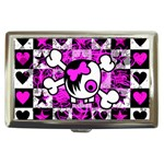 Emo Scene Girl Skull Cigarette Money Case