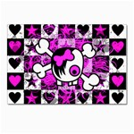 Emo Scene Girl Skull Postcard 4 x 6  (Pkg of 10)