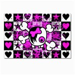 Emo Scene Girl Skull Postcards 5  x 7  (Pkg of 10)
