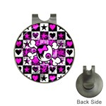Emo Scene Girl Skull Golf Ball Marker Hat Clip
