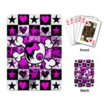 Emo Scene Girl Skull Playing Cards Single Design