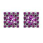 Emo Scene Girl Skull Cufflinks (Square)