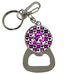 Emo Scene Girl Skull Bottle Opener Key Chain