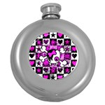 Emo Scene Girl Skull Hip Flask (5 oz)