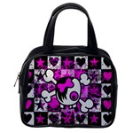 Emo Scene Girl Skull Classic Handbag (One Side)