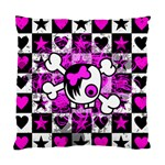 Emo Scene Girl Skull Cushion Case (One Side)