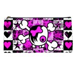Emo Scene Girl Skull Pencil Case