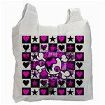 Emo Scene Girl Skull Recycle Bag (Two Side)