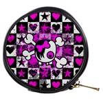 Emo Scene Girl Skull Mini Makeup Bag