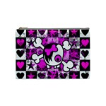 Emo Scene Girl Skull Cosmetic Bag (Medium)