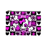 Emo Scene Girl Skull Cosmetic Bag (Large)