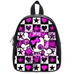 Emo Scene Girl Skull School Bag (Small)