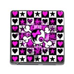 Emo Scene Girl Skull Memory Card Reader with Storage (Square)