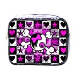 Emo Scene Girl Skull Mini Toiletries Bag (One Side)