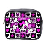 Emo Scene Girl Skull Mini Toiletries Bag (Two Sides)