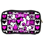 Emo Scene Girl Skull Toiletries Bag (Two Sides)