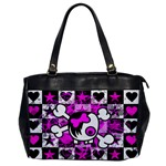 Emo Scene Girl Skull Oversize Office Handbag (One Side)