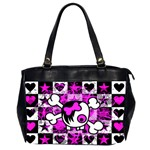 Emo Scene Girl Skull Oversize Office Handbag (Two Sides)