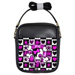 Emo Scene Girl Skull Girls Sling Bag