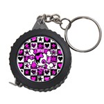 Emo Scene Girl Skull Measuring Tape