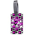 Emo Scene Girl Skull Luggage Tag (two sides)