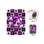 Emo Scene Girl Skull Playing Cards (Mini)